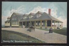 Postcard READING Pennsylvania/PA  Berkshire Golf Country Club House view 1907
