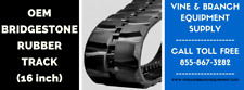 BRIDGESTONE HEAVY DUTY RUBBER TRACK  SVL75 / SVL75-2 (16 INCH TRACK)