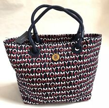 NWT Tommy Hilfiger Large Logo Signature Canvas Tote Travel Bag $109