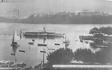 OUCHY MONTAGNES DE SAVOIE LAUSANNE SWITZERLAND - LUQSOR EGYPT SHIP POSTCARD 1920