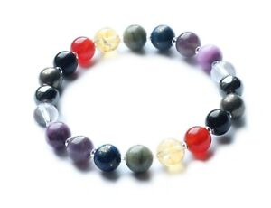 Empath Protection Bracelet, Gemstone, Energy Shield, Natural Healing, Crystal