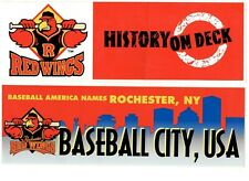 BASEBALL   ROCHESTER RED WINGS BUMPER STICKER LOT OF 4