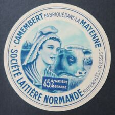 Etiquette fromage CAMEMBERT MAYENNE  NORMANDE   cheese label 24