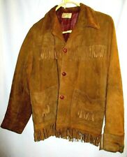 Early Soft Deer Skin Leather Fringe Womens Western Sass Jacket Indian Style