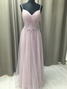 LADIES Prom,wedding,evening,party dress size8 Haze pink BNWT Mascara embellished