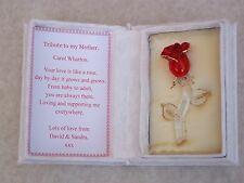 Mothers Day Gift Set@Red Rose@Floral Box@PERSONALISED MUM Verse@Glass@Gold@MAMMY