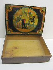 ANTIQUE WOODEN MASON'S CHALLENGE SHOE BLACKING DISPLAY BOX