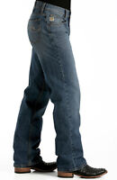 CINCH Men's HAYES Stonewash Relaxed Fit Straight Leg Jeans MB98934001 -IND NWT