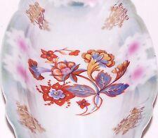 Vintage Green Luster Germany Porcelain Relish Dish w/Flowers & Gold Trim 9¼�Long