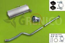 Schalldämpferset PEUGEOT 106 II 1.1i 1.4i Schrägheck 00-04 Auspuff + Montagesatz
