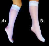 2 pairs of GIRLS soft KNEE HIGH SOCKS, age: 5-9yrs.