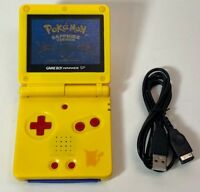 Nintendo Game Boy Advance GBA SP Pikachu Yellow System AGS 101 Brighter MINT