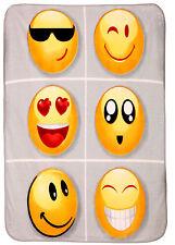Luxury Large Soft Emoji Emoticon  Faux Fur Throw Mink Blanket