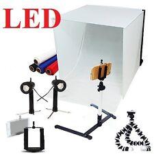 "Pro studio in a box still life photography  16"" tent & backdrops tripod kit"