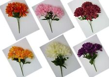 Chrysanthemum Faux Silk Dried & Artificial Flower Bunches