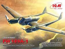 ICM 1/72 Focke-Wulf Fw 189A-1 Segunda Guerra Mundial German avión de reconocimiento # 72291