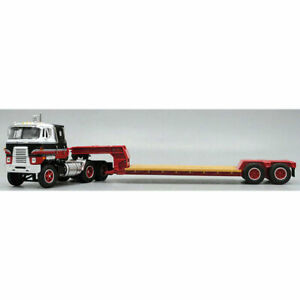 1/64 Black Red White International TranStar COE & Red Rogers Lowboy DCP 60-0449