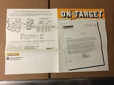2 GOTTLIEB FACTORY ORIGINAL ON TARGET NEWSLETTERS 1983