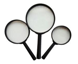 Handlupe Lupe Lesehilfe Leselupe Vergrößerung Lupe Vergrößerungsglas 60 75 90 mm
