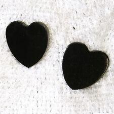 Titan Titanium Ohrstecker Ohrringe Ohrschmuck Herzen schwarz black Damen Frauen
