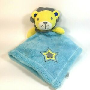 Baby Gear Lion Lovey Blue Yellow Star Embroidered Aqua