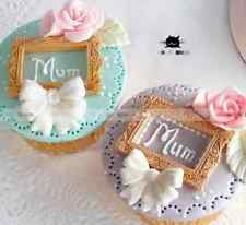 Vintage Frame Silicone Icing Decoration Cupcake Mould Birthday Mother's day Tool