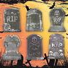 6 tlg Halloween Partydeko Totenköpfe RIP Partydekoration Outdoor Zufällige Stile