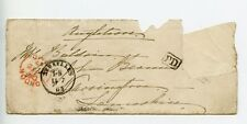 Belgium 1863 cover with contents, stamp missing (R054)