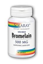 Bromelain 500mg 2400 GDU Solaray 60 Caps