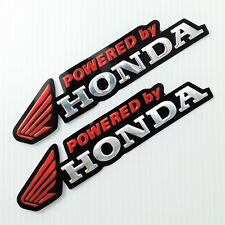 2PC. RED POWERED BY HONDA WING REFLECTIVE STICKER DIE-CUT FOIL EMBOSS CAR BIKE