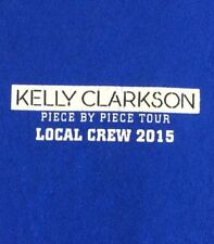Kelly Clarkson Piece By Piece Tour Local Crew 2015 Blue Xl T Shirt