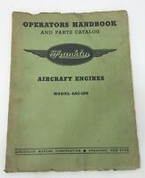 Franklin Model 4AC-199 Aircraft Engine Motor Operator & Parts Manual Handbook