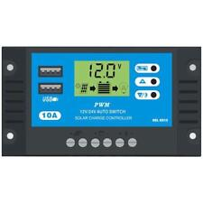10A 12V 24V LCD Display PWM Solar Charge Controller Dual USB Panel Charger H-Q