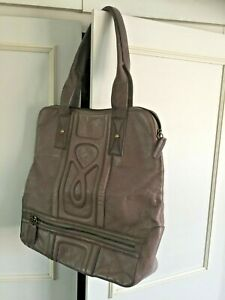 NEW - MODULA taupe/beige large leather tote bag 36cm x 36cm