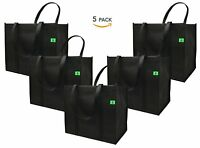 Reusable Grocery Bags 5 Pack Hold 40lbs Eco-friendly Shopping Tote Greenbag
