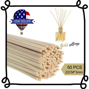 Rattan Read Oil Diffuser Sticks Replacement 50 PCS Refill For Home Fragrance