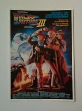 carte postale cinéma film Back to the Future 3 Mickaël J. Fox