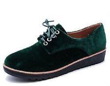 Calzado de mujer zapatos planos con cordones sin marca