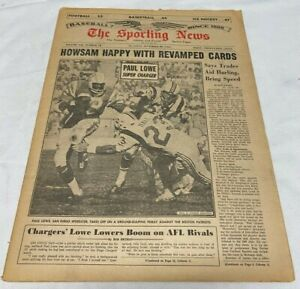 November 20, 1965 The Sporting News Newspaper---Paul Lowe   Very Good