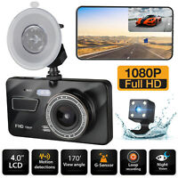 1080P Car Camera Dual Lens Dash Cam Front and Rear Night Vision 170 Wide Angle