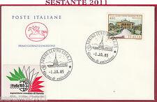 ITALIA FDC CAVALLINO VILLE VILLA ALDROVANDI MAZZACORATI 1985 TORINO Y891