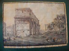 Giovanni Volpato Arco Settimio Severo acquaforte originale 1770 Roma Rome Foro
