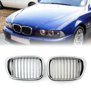 Chrome Front Kidney Grill Mesh Grille For BMW E39 1995-2003 5 Series