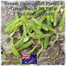 Soft Plastic Fishing Lures Paddle Tail Grub Bait Worm Bream Flathead 50pc x 50mm