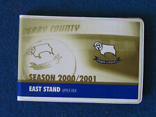 Derby County-Season Ticket LIBRETTO - 2000/01 - EAST Stand