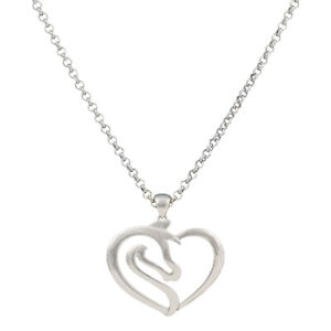 New  Montana Silversmiths Necklace Silver Horse~Heart  #NC2504 Clearance $ALE
