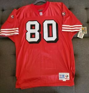 AUTHENTIC VINTAGE JERRY RICE 49ERS JERSEY PROLINE WILSON 75TH ANNIVERSARY vtg 52
