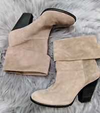 Vince Camuto NWOT taupe suede slouchy ankle boots 8.5  MSRP $155