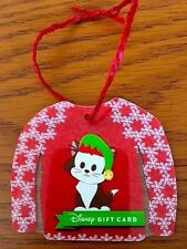 Disney Parks Kitten Christmas Sweater Gift Card Christmas Ornament New