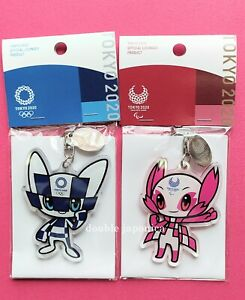 Tokyo 2020 Olympics Keychain Miraitowa&Someity Keyring Acrylic Pair Set